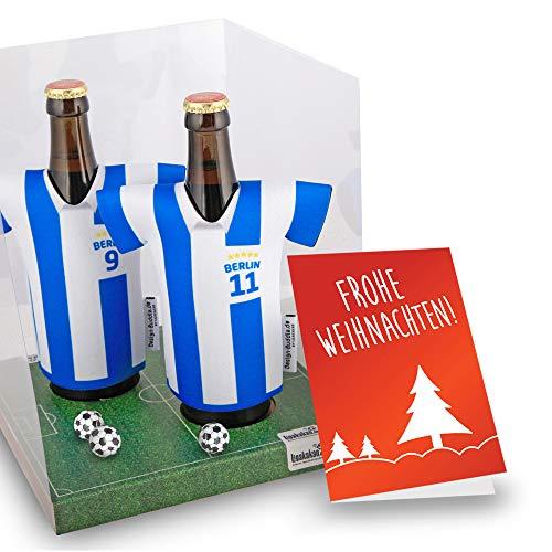Weihnachts-Geschenk | Der Trikotkühler | Das Männergeschenk für Hertha-Fans | Langlebige Geschenkidee Ehe-Mann Freund Vater Geburtstag | Bier-Flaschenkühler by Ligakakao