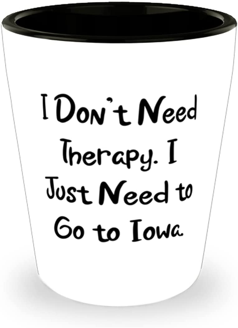 I Don't Need Therapy. Excellence Just OFFicial mail order to Iow Go Iowa. Shot Glass