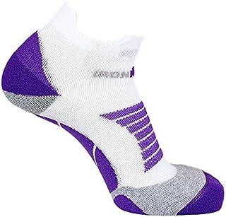 IRON MAN, Ironman Pro - Calcetines de Running para Mujer, Talla 35-38, Color Blanco y Morado