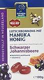 Manuka Health - MGO 400 + Schwarze Johannisbeere Lutschbonbons  100 g - 100% Pur aus Neuseeland mit zertifiziertem Methylglyoxal Gehalt und Vitamin C Bonbons