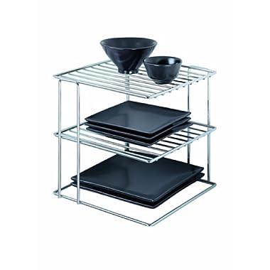 Organize It All Chrome Kitchen Corner Shelf Organizer