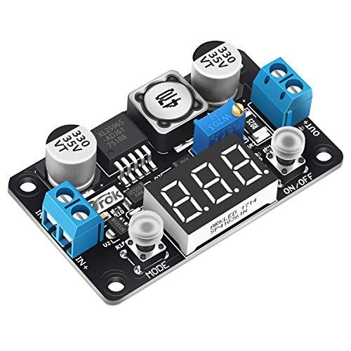 Buck Converter 24v to 5v, DROK DC 4-32V to 1.25-30V 3A Adjustable Step Down Module, LM2596 Voltage Regulator Board, 12V to 5 V LED Power Supply Transformer