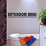 wandaufkleber 3d groß Bad Regeln Waschen Sie Ihre Hände mit Seife putzen Sie Ihre Zähne sauber