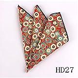 Ltong Pocket Square For Men Women Floral Chest TowelGentlemenMens Suits Handkerchief Print Pocket Towel,HD27