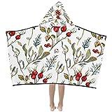 WBSNDB Nap Throw Blanket Sweet Sour Hawthorn Fruit Dried Kids Hooded Blanket Bath Towels Throw Wrap for Toddler Child Girl Boy Home Travel Sleep Kids Blanket for Boys