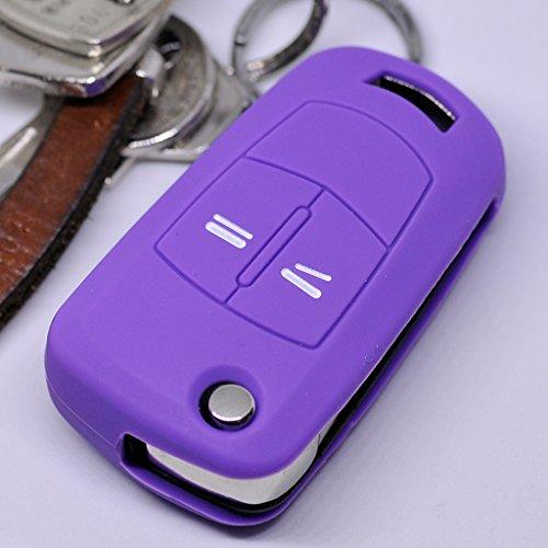 Soft Case Silikon Schutz Hülle Auto Schlüssel Lila kompatibel mit Opel Astra Vectra Corsa Zafira Signum bis 2008