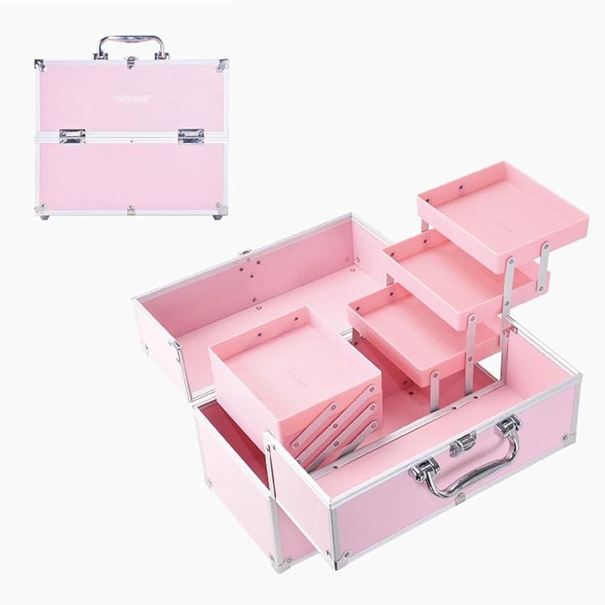 狂気勃起速記「XINXIKEJI」メイクボックス コスメボックス 大容量 2段/3段 化粧ボックス スプロも納得 収納力抜群 鍵付き かわいい 祝日プレゼント  取っ手付 コスメBOX