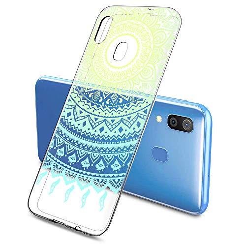 Suhctup Cover Compatibile per Samsung Galaxy S5 Mini / G800 Silicone Pizzo, Galaxy S5 Mini Morbido Trasparente Silicone Custodie, Ultra Slim 3D Cartoon Disegni TPU Antiurto Protettivo Case