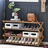 GQQ Hgdd Dustproof Shoe Storage Rack Wood Shoe Rack, Storage Bench – Closet, Bathroom, Kitchen, Entry Organizer, 4Tier Space Saver Shoe Rack,100Cm×25Cm×68Cm Shoe Shelf