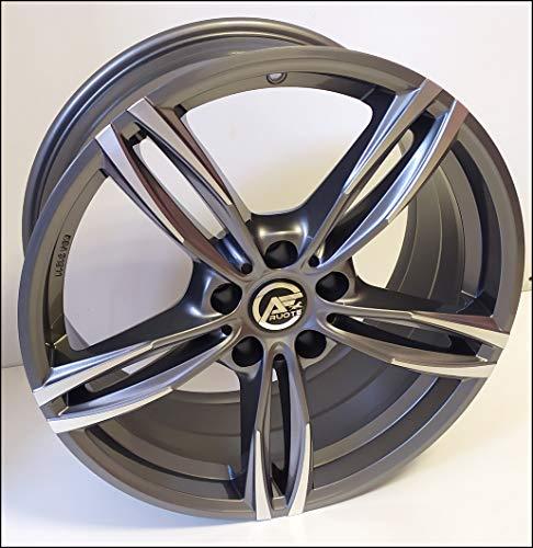 1 AC-MB3 Llantas de Aleación NAD 7,5 17 5X120 32 72,6 Compatible Con BMW Serie 3 4 5 6 X1 X3 X4 Antracita Pulido Diamante