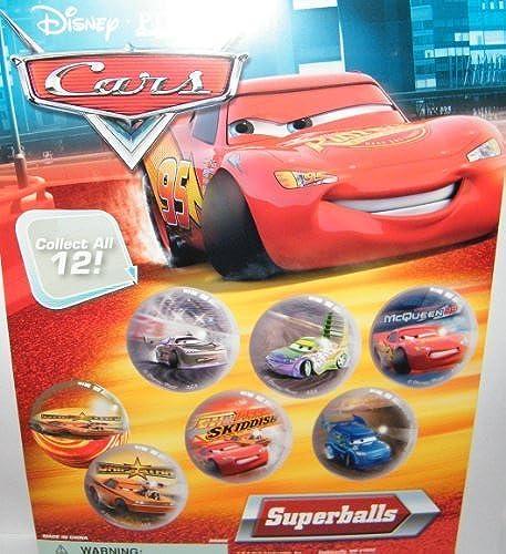 seguro de calidad Disney Cars Cars Cars Toys Superball Toy Set of 12 Fun High Bouncing Rubber Balls by A&A  contador genuino