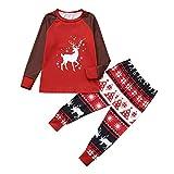 Matching Family Pajamas Christmas Deer Print Sleepwear Toddler PJs Long Sleeve Tee Pants Loungewear Xmas Outfits Romper