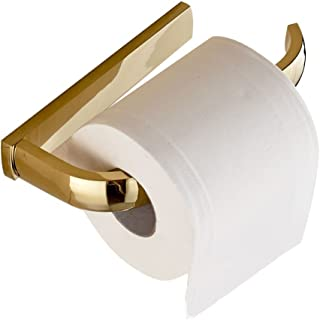 Leyden Gold Finish Half Open Toilet Roll Paper Rail Holder Wall Mounted Brass Material Convenient Toilet Tissue Single Rail Holder