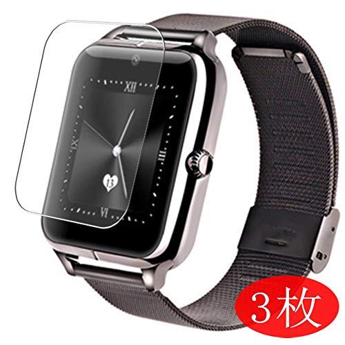 Vaxson 3 Stück Schutzfolie kompatibel mit Smartwatch smart Watch Z60, Displayschutzfolie Bildschirmschutz Blasenfreies TPU Folie [Nicht Panzerglas]