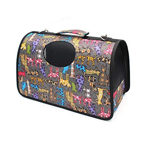 LZWH Out-of-Port tragbare Slung Billet Schulter Haustier aus Tasche, wasserdichte PC-Tuch warme Reisekatze Tasche, Größe: 42 * 22 * 26cm, Gewicht: 0,72 kg,Colorful cat
