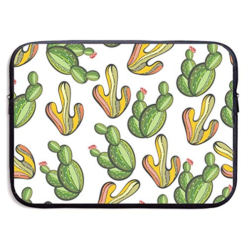 Cactus Laptop Sleeve Bag Case,Waterproof and Foldable Laptop Briefcase Neoprene Soft Carring Tablet Travel Case,13 inch