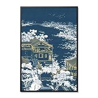 中国の黄金の宮殿の壁の写真リビングルームの寝室の装飾のためのキャンバスプリントウォールアートチャイナスタイルのキャンバスウォールアートプリント60x80cmフレームレス