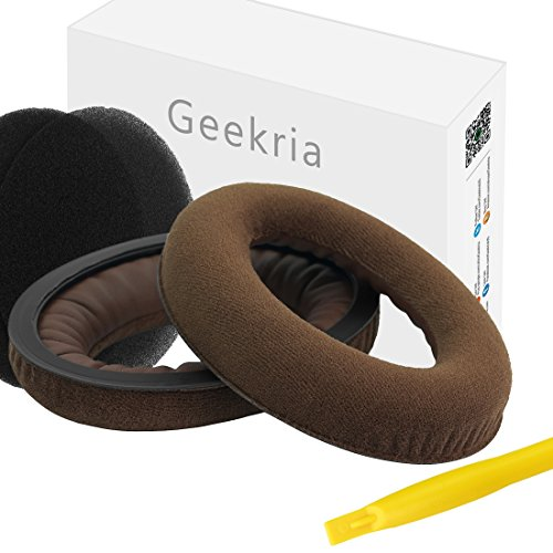 Geekria - Almohadillas de repuesto para auriculares Sennheiser HD380 y HD380 Pro, piezas para reparación