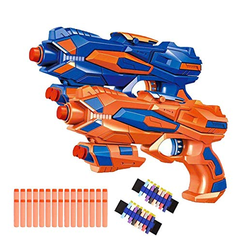 Fstop Labs 2 Pack Foam Hand Gun Toy Blaster Gun Compatible with Nerf Guns with 2...