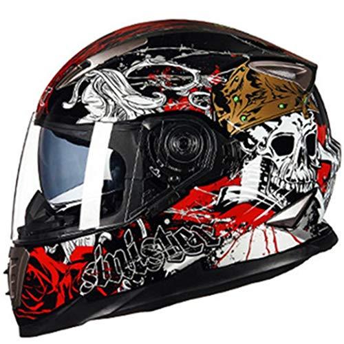 Casco Da Moto Integrale A Doppia Lente Anti-appannamento Uomo Donna Casco Da Motocross Casco Modulare Per Protezione Moto Da Strada