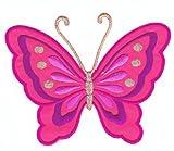 Patch Aufnäher Bügelbild Schmetterling groß
