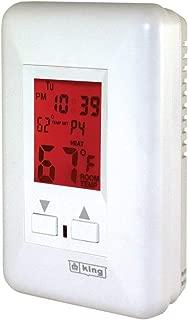 KING ESP120-R ESP Programmable Electronic Thermostat, 120-Volt