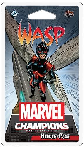 Asmodee Marvel Champions: Das Kartenspiel - Wasp, Helden Erweiterung, Deckbau, Deutsch