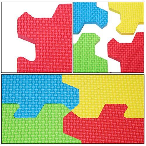 Puzzle tapis mousse bébé alphabet et chiffres 86 pièces 36 dalles 32x32 cm enfant...