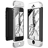 CE-Link Funda iPhone SE/iPhone 5 / iPhone 5s, Carcasa Fundas para iPhone SE/iPhone 5 / iPhone 5s, 3 en 1 Desmontable Ultra-Delgado Anti-Arañazos Case Protectora - Plata + Negro