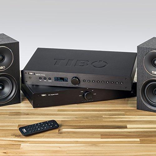 TIBO TI435 DAB+ | Digital Audio Broadcasting in FM/AM | Stereo Tuner | Remote Control | Black