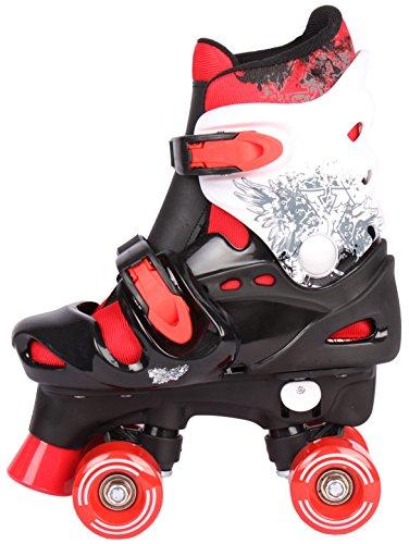 Selltex Kinder Rollschuhe Rollerskates verstellbar 28 29 30 31 32 33 34 35 36 NEU Disco Roller (Rot, 32-36 (M))