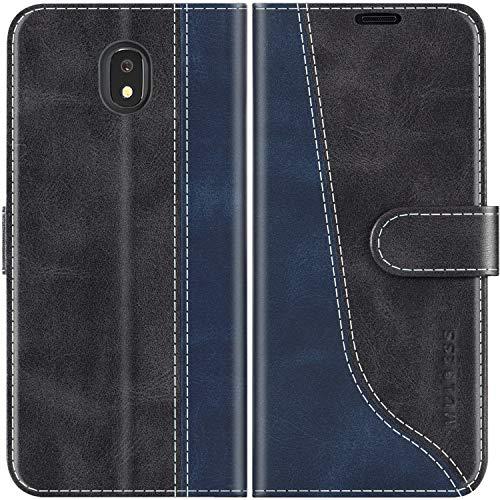Mulbess Custodia per Samsung J5 2017, Cover Samsung J5 2017 Libro, Custodia Samsung Galaxy J5 2017 Pelle, Flip Cover per Samsung Galaxy J5 Duos 2017 Portafoglio, Nero