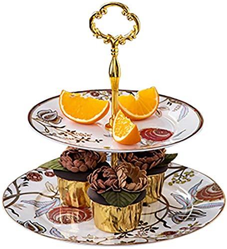 FL-Creative Fruit Placa, Soporte de Pastel, Soporte de Postre, Tea Tea Tea Ceramic Postre Stand, Placa de Fruta Inicio, Decoración de Fiesta de Boda de Cumpleaños y Presentación