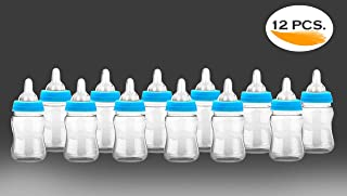 Noa Store 12 Fillable Bottles for Baby Shower Favors Party Decorations Girl & Boy (Blue)