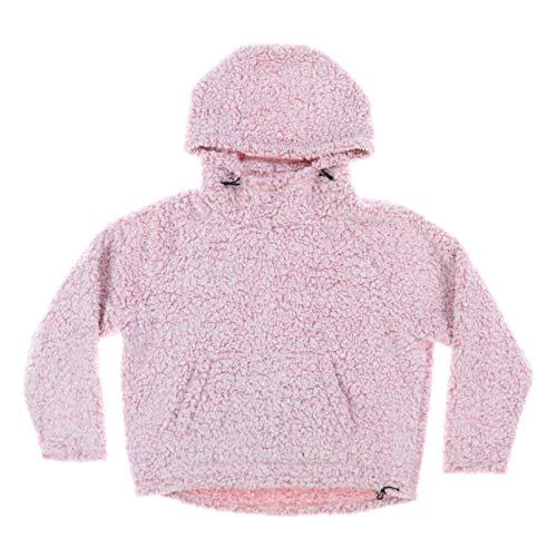 Victoria's Secret Pink Sherpa Hoodie Pullover Jacket (M, Ballet Pink)