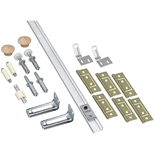 National Hardware N343-749 391D Folding Door Hardware Set in White,72 Inch