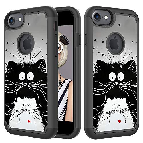 Xifanzi 360 - Funda Protectora Completa para iPhone 6 y 6S, Gato Negro Grande, iPhone 6S/iPhone 6 (4.7')