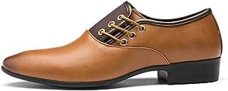 Plus Size Low-Top Men's Oxford Shoes Formal Shoes (Color : Yellow, Size : 44)