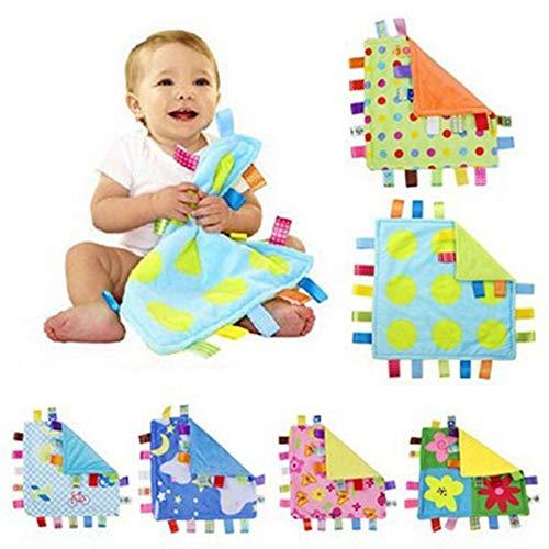 QWERBAM 1 Unid Toalla Cuadrada Súper Suave Etiqueta De Manta De Confort For Bebés Toalla Calmante Cómoda como Juguete Multifunción Toalla Reconfortante For Bebés For Family (Color : 2)