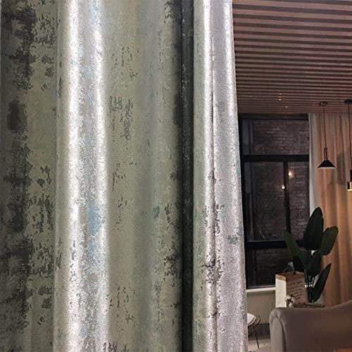 Cortinas Modernas para Sala de Estar Comedor om Bedom Light Luxury High-End Villa Simplicity Cortinas Acabado Pduct Personalización-Gris Plateado, W200cmxH250cm, Bolsillo d