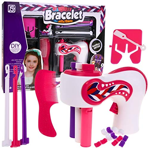 BSD Kreativ Set - Haare Flechten Maschine, Haarflechtmaschine für Kinder, Haar Flechter, Haar Flechten Geräte mit Zubehör
