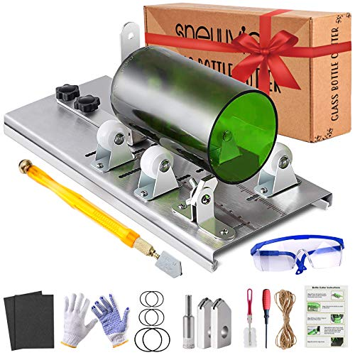 Glass Bottle Cutter Kit, Bottle Cutter DIY Machine with Size Marking for...