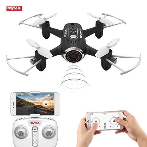 FPVRC Syma X22W Mini Drone with Camera Live Video 2.4GHz 4CH 6-Axis WIFI Quadcopter with App Control Flight Plan, Altitude Hold, 3D Flips, Headless Mode, One Key to Return and LED Lights (Black)
