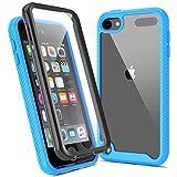 ULAK Funda iPod Touch 7, iPod Touch 5/6 Carcasa con Protector de Pantalla Incorporado Híbrido Clear Cubierta de la Suave Resistente a Rayones Absorción de Choque Caso para iPod Touch 5/6/7 - Azul