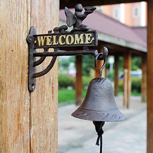 CJH Europese Bloem Fee Klokken Vintage Smeedijzer Gietijzer Welkom Handleiding deurbel Cafe Bar Decoraties