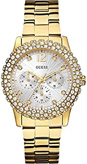 Guess Women's White Dial Stainless Steel Band Watch - W0335L2