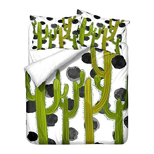Stillshine. 3D Printing Cartoon Desert Plant Cactus Bedding Children Boy Girl Man Woman Youth Duvet Cover With Zipper + Pillowcase (cactus5,135x200 cm)