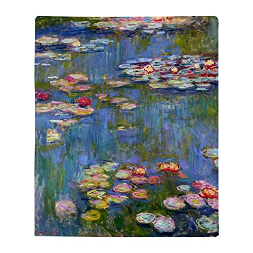 "CafePress Water Lilies 1916 by Claude Monet Throw Blanket Soft Fleece Throw Blanket, 50""x60"""