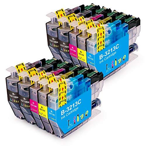 Hitze LC3213 Ersatz Brother LC3213 LC-3213 Druckerpatronen Kompatibel für Brother DCP-J572DW MFC-J497DW MFC-J491DW DCP-J772DW DCP-J774DW MFC-J895DW MFC-J890DW (4 schwarz, 2 Cyan, 2 Magenta, 2 gelb)
