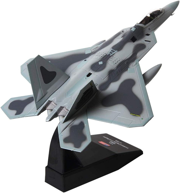 promociones de descuento CALSD Metal F22 Modelo de aeronave aeronave aeronave simulación Raptor Fighter Air Show Modelo decoración Regalos colección artesanía  todos los bienes son especiales